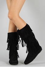 Picture of UrbanOG Black-fringe boots