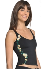 Picture of Flower-Decorated Long Women's Sport Top