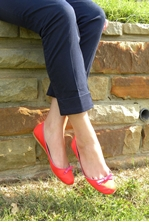 Picture of Bright Red Stylish Flats